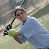 Middleton: North Shore Technical High School standout softball player Jilian Tentindo works on a drill during practice. Photo by Deborah Parker/Salem News Friday, March 27, 2009.