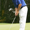 Danvers' Steve Cleary putts at the first hole during yesterday's match against St. John's held at the Ferncroft Country Club. Photo by Deborah Parker/Octover 1, 2009