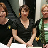 Mary Jane Maglione and Christine Cericola, both of Salem, along with Jill Brown of the Salem Mission, volunteer at the Lifebridge Fashion Show held at the Nathaniel Silsbee House Thursday evening. Photo by Deborah Parker/April 15, 2010