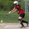 Masco's Allison Shamon bunts during yesterday's game against Pentucket. Photo by Deborah Parker/may 7, 2010