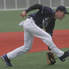 St. Johns' Kevin Barry fields a ball during yesterday's game against Central Catholic held in Danvers. Photo by Deborah Parker/May 19, 2010