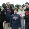 From left, couselor Matt Malone, 18, counselor in Training, Marc Babcock, 14, camp attendees Rick Graham, 11 and Dylan Ricci, 13, along with counselor Justin Jervinis, 21, all of Beverly, pose together while at Livingstone Park in Beverly as part of the Beverly Recreation Department Parks Program. Photo by Deborah Parker/July 21, 2009