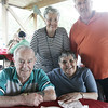 Lou and Jannette Beaulieu, sitting, and Nancy Riley and Raymond Page, all of Salem pose together while attending the Seniors Picnic held at Winter Island Sunday afternoon. Photo by Deborah Parker/August 9, 2009