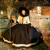 Salem: Daphne Alespeiti of New Jersey decided to dress as a witch for her second trip to Salem for Halloween. Photo by Deborah Parker/Salem News Friday, October 31, 2008.