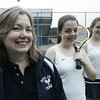Sisters, Sarah, center, and Allison Connors are both coached by their mom Nancy Connors at Pope John High School in Everett. Photo by Deborah Parker/June 30, 2009