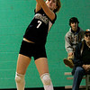 Hamilton: Pingree's Kathryn Milachewski volleys the ball during yesterday's volleyball match against Chapel Hill-Chauncey Hall held at Pingree. Photo by Deborah Parker/Salem News Friday, January 23, 2009.