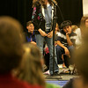Holton Richmond sixth grade student Kelly Mullaney attempts to spell a word correctly during a spelling bee held at the Liberty Tree Mall to benefit  the Danvers DEEP educational enrichment partnership Tuesday night. The event was sponsered by Danversbank. Photo by Deborah Parker/November 10, 2009