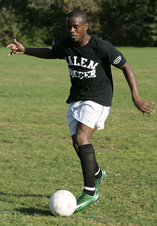 Salem:Max Mondestin  came to Salem from Haiti a few years ago and has developed into one of the best players Salem High School has had in several years.<br /> Photo by Deborah Parker/Salem News Thursday, October 09, 2008