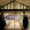 Danvers Town Manager Wayne Marquis and Department of Public Works Director David Lane talk about the newly renovated Town Hall during a tour of the building on Wednesday afternoon. Photo by Deborah Parker/February 10, 2010