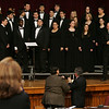 The Peabody Veterans Memorial High School Chorale receives a standing ovation after performing during last nights inauguration held at Wiggins Auditorium at City Hall. Photo by Deborah Parker/January 4, 2009