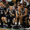 The St. John's bench reacts to a call during last night's Division 1 Sectional Finals at the Garden Friday evening. Photo by Deborah Parker/March 5, 2010