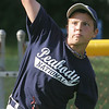 Christian Morales warms up during a throwing drill at McArthur Park in Peabody during practice with the Peabody National Little League all-star Williamsport team. Photo by deborah parker/june 21, 2010