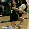 Hamilton: Pingree's Jennifer Mannion volleys the ball during yesterday's volleyball match against Chapel Hill-Chauncey Hall held at Pingree. Photo by Deborah Parker/Salem News Friday, January 23, 2009.