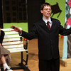 Derek Dupuis who plays Albert Peterson and Alex Kaeantais who plays Little Girl, perform a scene from Bye Bye Bye Birdie during dress rehearsal at Collins Middle School yesterday afternoon. The school will be putting on the play school is presenting on March 3, 4, and 5 at 7 p.m. in the Collins Auditorium. Photo by Deborah Parker/February 25, 2010