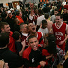 Salem celebrates after they defeated Dracut with just two seconds to go during last night's Division 2 North semi final game held at Woburn High School Photo by Deborah Parker/March 3, 2010<br /> verHD, Salem celebrates after they defeated Dracut with just two seconds to go during last night's Division 2 North semi final game held at Woburn High School Photo by Deborah Parker/March 3, 2010<br /> verHD