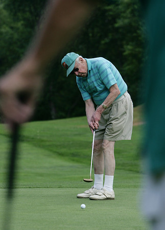 Ken Ring, is a 95-year-old golfer who still plays once a week with a group of friends at the Olde Salem Greens. Photo by Deborah Parker/July 12, 2010