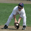 Beverly West Little League player Christian Miller fields a ball during practice at Vittori Field in Beverly Friday afternoon. Photo by Deborah Parker/June 18, 2010