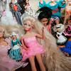 Ipswich: Patty Pallazola of Ipswich and her two daugthers, Megan and Erin acquired quite the collection of Barbies when they were young. Photo by Deborah Parker/Salem News Friday March, 6, 2009.