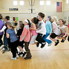 Peabody: A group of students from the Captian Samuel Brown School try to jump rope all at the same time while participating in the American Heart Association's Jump Rope for Heart program Wednesday afternoon. The program helps to raise money for the Association and this is the sixth year that the school has participated. Photo by Deborah Parker/Salem News Wednesday March 18, 2009.
