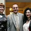 From left, Lori Lynes of North Reading, Jeff O'Halloran of Lowell, and Christine Simsek of Lowell attend the Boston Lobsters kick off for the 2010 season held at the Crowne Plaza Boston North Shore Friday evening. Photo bY Deborah Parker/April 16, 2010