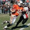 Beverly: Beverly's Mark Hannable escapes a tackle by Salem's Josh Sanchez during Thursday's Thanksgiving Day game held at Hurd Stadium. Photo by Deborah Parker/Salem News Thursday, November 27, 2008.