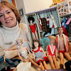 Beverly: Karen Hodgson of Beverly has quite a collection of miniature Barbie clothing that her mom sewed for her Barbie's when she was a child. Photo by Deborah Parker/Salem News Friday March 6, 2009.