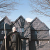 "Original cutline: Salem: Eric Fraize, who calls himself the Witch King of Salem, hoped to join Spirit Finders in a ghost-hunting investigation inside the historic, 17th century Witch House. City officials said no. Photo by Deborah Parker/Salem News Thursday, December 18, 2008<br /> <br />  <br /> Original: Salem: Eric Fraize the ""Witch King of Salem"", stands in front of the Witch House which recently turned down a request from Spirit Finders Paranormal Investigatros of Rhode Island to conduct a scientific investigation inside the Witch House. Fraize, represented the organization before the Park and Recreation Comission and would have participated in the investigation. Photo by Deborah Parker/Salem News Thursday, December 18, 2008<br /> <br /> <br /> processed by IntelliTune on 18122008   180817<br /> with script Lawrence RGB to CMYK and Move<br /> <br /> Published cutline: No Published Caption"