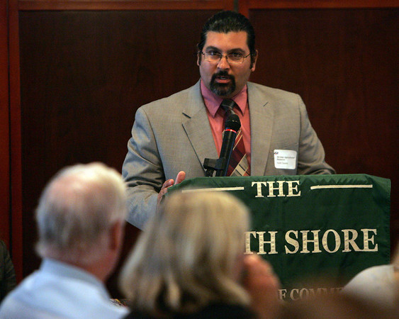 Scott Soares, commissioner of the Massachusetts Department of Agricultural Resources was the speaker for Economic Impact of Energy and Agriculture on the North Shore Public Policy Breakfast forum, sponsored by the North Shore Chamber of Commerce and held at the Salem Waterfront Hotel in Salem Wednesday morning. Photo by Deborah Parker/Juy 14, 2010<br /> , Scott Soares, commissioner of the Massachusetts Department of Agricultural Resources was the speaker for Economic Impact of Energy and Agriculture on the North Shore Public Policy Breakfast forum, sponsored by the North Shore Chamber of Commerce and held at the Salem Waterfront Hotel in Salem Wednesday morning. Photo by Deborah Parker/Juy 14, 2010