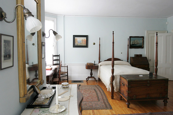 The master bedroom of the Phillips House. Photo by Deborah Parker/February 17, 2010