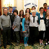 Students from Northern Ireland are visiting the area as part of the Friends Forever Program. The group  brings Catholic and Protestant teens together. From left, front row, rotarian Malia Griffin, champerones Catherine Bell and Ricky Garrett, students Niall McEvera, Lorna Bryson, Karl Beare, Sarah Cartin and Anna Gilmore. Back row from left, Matthew Delargy, Melissa Gaffney, Annie McWilliams, Matthew Drayner and Junio Afrifa along with rotarian David Gendall who is also on the board of directors for the Friends Forever program. Photo by Deborah Parker/October 27, 2009