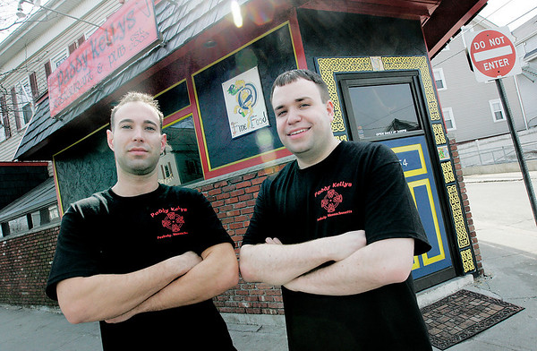 Peabody: Adam Drohan and Dave Cutler are the new owners of Paddy Kelly's on Washington. Photo by Deborah Parker/Salem News Wednesday March 18, 2009.