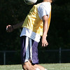 Hamilton-Wenham's Eric Kirlis traps the ball during a scrimmage at the high school yesterday afternoon. Photo by Deborah Parker/September 1, 2009