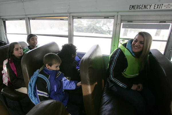 Shannon Underwood, a student at Danvers High School will ride the bus with students from Smith Elementary as part of a program aimed at reducing bullying. Photo by Deborah Parker/January 13, 2009