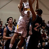 Chelsea: Bishop Fenwick's Brett DinPanfilo goes for a lay up against Wilmington's Mike Murphy during last night's Division 3 North semifinals game at Chelsea High School. Photo by Deborah Parker/Salem News Thursday, March 5, 2009.