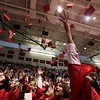 The graduating class of 2009 throw their caps into the air marking the end of graduation ceremonies at Salem High School Friday evening. PHoto by Deborah Parker/June 6, 2009