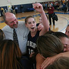 Boston: Swampscott's Tara Gallagher celebrates with her teammates after defeating Pentucket in thenDivision 3 Final game Saturday at Emmanuel College. Photo by Deborah Parker/Salem News Saturday March 7, 2009.