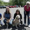 Salem: From left, Carol Rahilly from Canine University, Tracy Ellsworth from the National Corvette Restorers Society, Cheryl Brown of the North Shore Corvette Club and Jane Surette also from NCRS, pose for a picture during the Vettes for Pets event Saturday. The event was a fundraiser for Northeast Animal Shelter. and include Corvettes, street rods, classics and muscle cars along with music, food and raffles and a professional dog training demonstration<br /> Photo by Deborah Parker/May 16, 2009