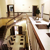 Department of Public Works Director David Lane and Danvers Town Manager Wayne Marquis walk around the newly renovated Town Hall during a tour of the building on Wednesday afternoon. Photo by Deborah Parker/February 10, 2010