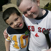 10-year-old Eddie Rodriguez has been battling cancer since he was five, and he ran a coin drive at his elementary school to raise money for Children's Hospital, where he has spent much of his life. Here Eddie is seen with his brother, Marshall, 4.  Photo by deborah parker/april 22, 2010