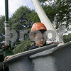 Danvers: Devin Thompson, 4, of Lynnfield, examines the contents of a bucket truck during Truck Day at Endicott Park Saturday. The event, which was sposered by the town Recreation Department featured vehicles covering police motorcycles to school buses, to cement trucks.<br /> Photo by Deborah Parker/Salem News Saturday, September 13, 2008