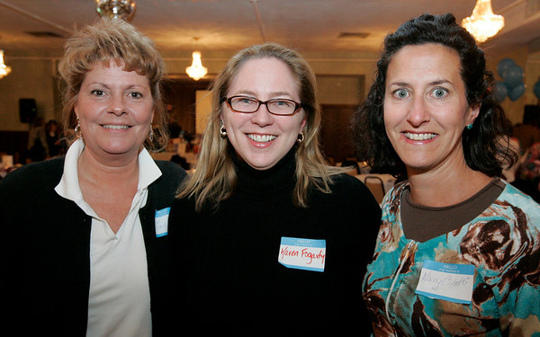 Beverly: From left, Pat Buttiglieri, Karen Fogerty and Nancy Coletti, all of Beverly pose together while attending Casino Night to to benefit Cove Elementary PTO<br /> held at the Vittori Rocci Post Friday evening. Photo by Deborah Parker/Salem News Friday March 6, 2009.