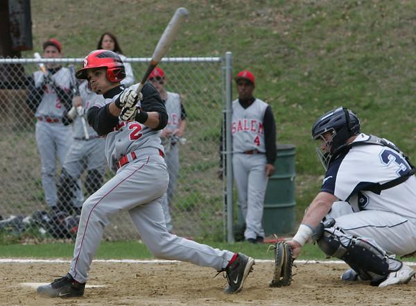 Salem's Jenssy Troncoso bats against Peabody during Monday afternoon's game held at Veterans Memorail High School. Photo by Deborah Parker/April 26, 2010