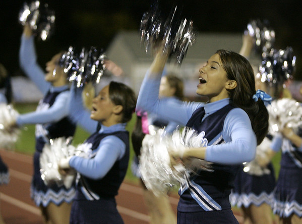 Peabody: The Peabody cheerleaders cheer on the Tanners during their game against Beverly Friday night. Photo by Deborah Parker/Salem News Friday, October 10, 2008