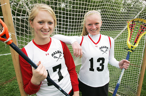 Audrey and Sophie Wyke are sisters who play lacrosse for Salem High. Sophie, a sophomore, set the new single-season scoring record thanks to an assist from Audrey, who is a senior. Audrey has set up Sophie for many goals this season.
