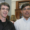 Peter Morris of PMP Consulting and Rick Humphrey of Romito Tomasetti and Associates pose together while attending an event to mark the launch of the Chamber Professionals Group, part of the Marblehead Chamber of Commerce, held at Marblehead Bank Monday evening. Photo by Deborah Parker/September 20, 2010