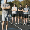 Danvers: St. John's Prep cross country senior teammates, from left, Mike Masse, Tim Murtagh, Julian Gallo and Brian Keiran.<br /> Photo by Deborah Parker/Salem News Friday, October 24, 2008