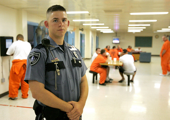 Ryan Broughey, a correctional officer at the Middleton Jail, was named soldier of the year by the Massachusetts National Guard following a tour in Iraq hunting for IEDs. photo by deborah parker/june 18, 2010<br /> <br /> , Ryan Broughey, a correctional officer at the Middleton Jail, was named soldier of the year by the Massachusetts National Guard following a tour in Iraq hunting for IEDs. photo by deborah parker/june 18, 2010