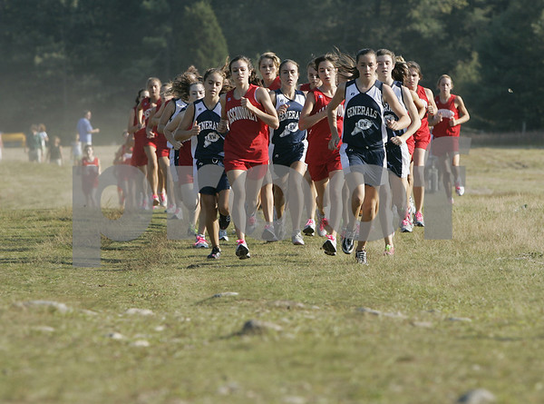 Topsfield: The Masconomet and Hamilton-Wenham girls cross country teams compete in their meet held at Bradley Palmer State Park Thursday afternoon. Photo by Deborah Parker/Salem News Thursday, September 04, 2008