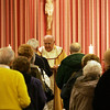 Father Herbert Jones leads a celebratory mass at the St. Therese Carmelite Chapel-in-the-Mall. The Chapel is celebrating it's 50th anniversary of its dedication. Photo by Deborah Parker/January 28, 2010