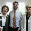From left, Jeanne Scott, and Ben Bouchard, both with the Salem Chamber of Commerce along with Margaret Crosby of Pace Consulting, attend Coffee Connection, a Salem Chamber of Commerce event, held at Kim Indresano Photography in downtown Salem Thursday morning. Photo by Deborah Parker/July 8, 2010